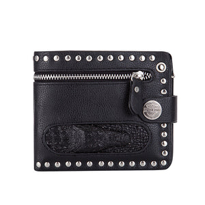 Short Paragraph Portable Rivet Men's Wallets