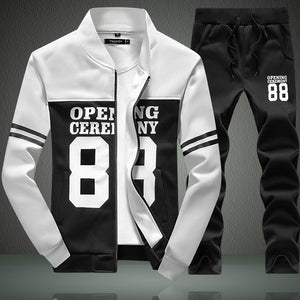 Long Sleeve Thicken Warm Men's Sports Suit