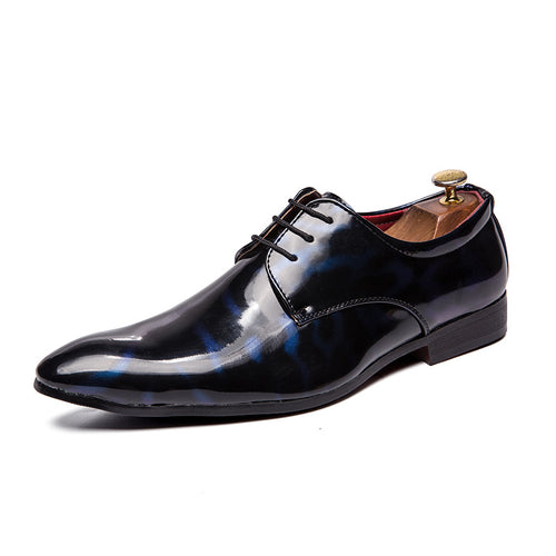 Wear Resistant Sequins Lace Up Men's Oxfords