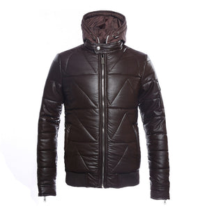 Hip Hop Lingge Pocket Men's Parka Jacket
