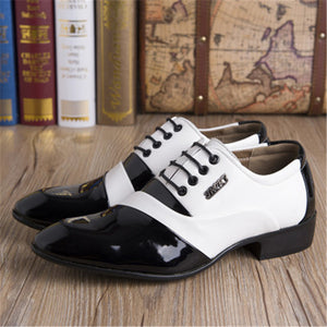 Patchwork  Point Toe Leather Men's Formal Shoes