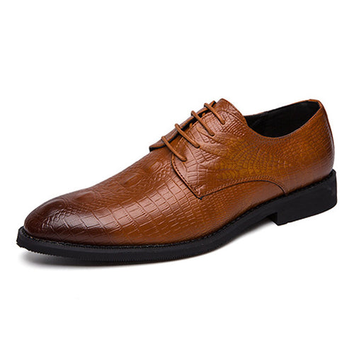 Comfortable Wear Resistant Croco Men's Oxfords