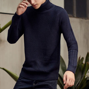 Twisted Flowers Can Turn Lapel Men's Sweater