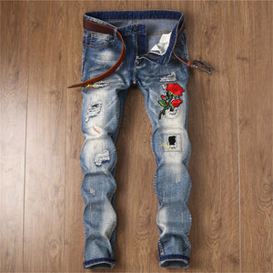 Patch Flower Slim Jeans