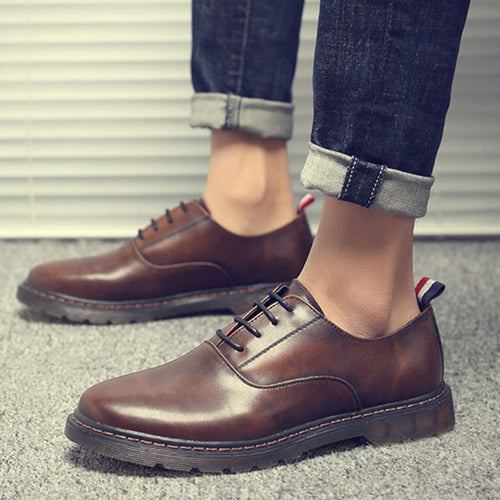 Bull Tendon Large-head Tooling Men'a Casual Shoes