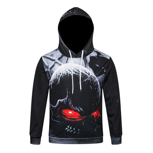 Plus Size Skeleton Hooded Bones Print Men's Hoodies
