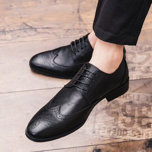Wear Resistant Plus Size Print Men's Oxfords