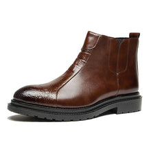 Brief  Vintage Round Toe Men's Leather Boots