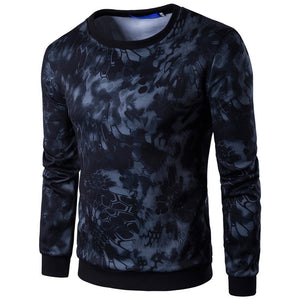 Loose Digital Printing Python Camouflage Men's Sweatshirt