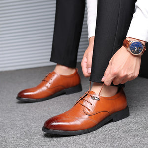 Business Leisure Ventilation Carving Men's Dress Shoes