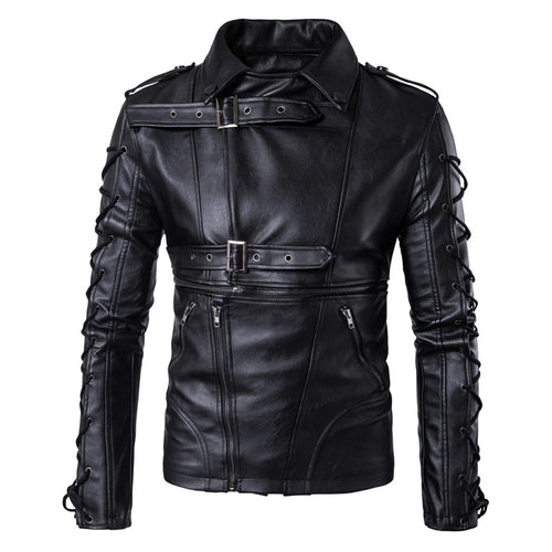 Plain Epaulet Lapel Rock Punk Men's Jacket