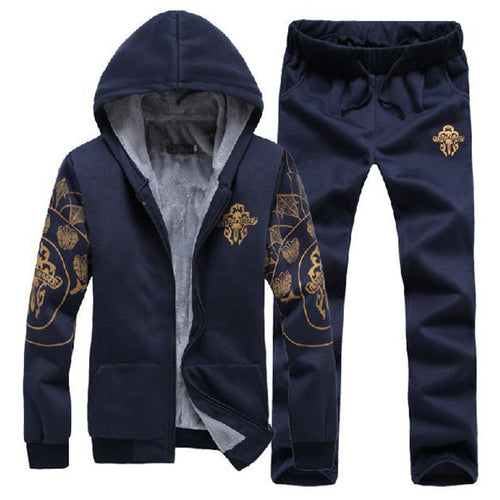 Polyester Add Velvet Wind Outdoor Men's Sports Suit