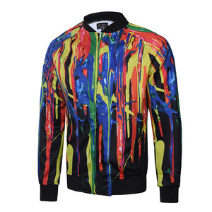 Light Creative Digital Printing Men's Jacket