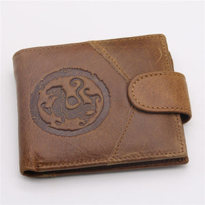 Genuine Leather Animal Plain Men's Wallets