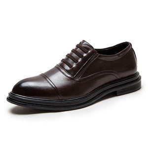 Business Tie Round Head Men's Oxfords