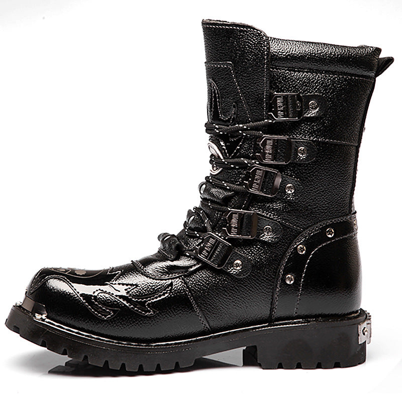 Army Boots Martin The Barrel Combat Men's Boots
