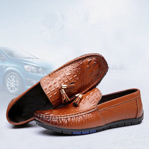 Alligator Pattern  Tassel Casual Shoes
