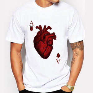 Poker Heart Printed T-shirt