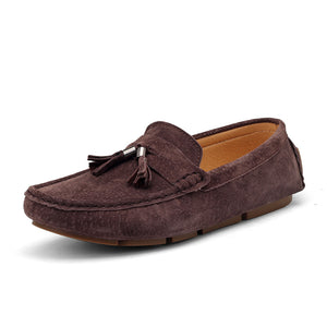 Suede Round Toe Driving Shoes