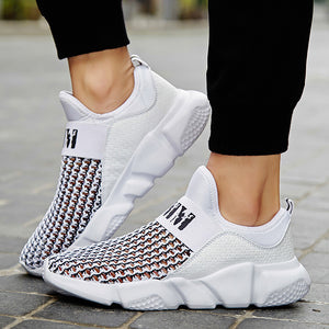 Hollow Out Mesh Walking Jogging Athletic Shoes