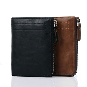 Multi-card Position Zippered  Coin Purse Men's Wallets