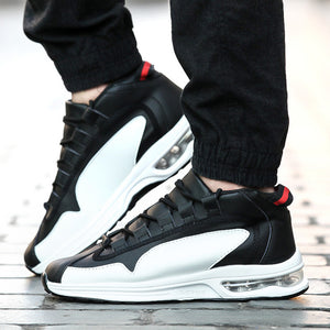 Round Toe Lace Up Anti Slip Travel Men's Sneakers