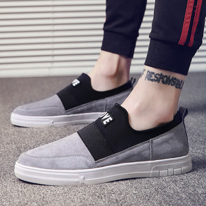Cloth Flat Slip On Men's Casual Shoes
