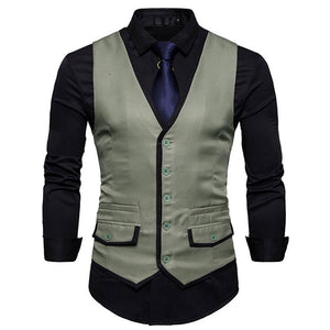 Waistcoat Comfortable Without Shirt Men's Vest Jacket