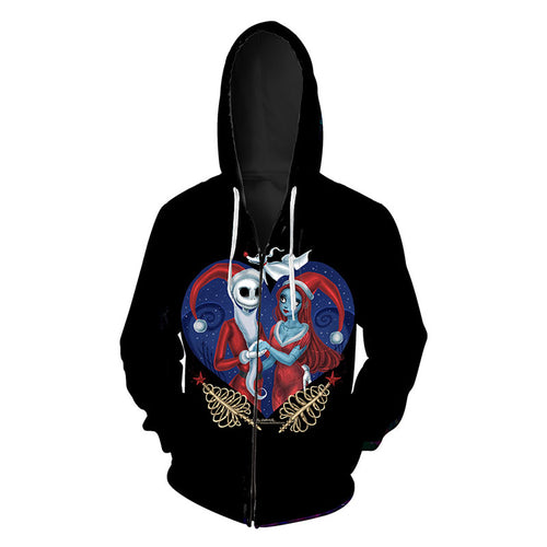 Hooded Halloween Polyester Zippered Men's Hoodies