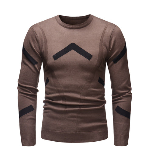 Comfortable Slim Warm Round Neck Men's Sweater