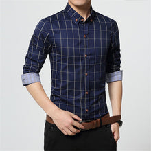 Casual Large Size Plaid Shirt