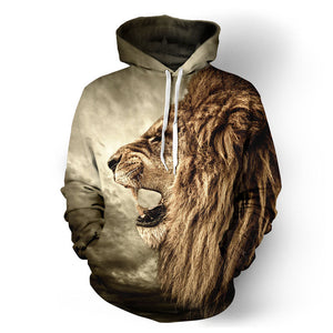 Lion 3D Print Hoodies