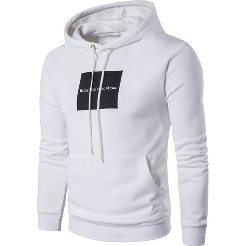 Hooded Pullover Long Sleeve Letter Men's Hoodie