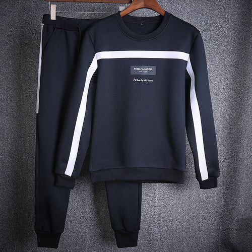 Round Neck Pullover Sports Men's Suits