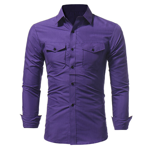 Pure Color Long Sleeve Shirt