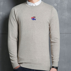 Animal Long Sleeve Stand Collar Men's Sweatshirt