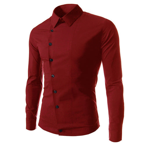 Irregular Button Long Sleeve Shirt