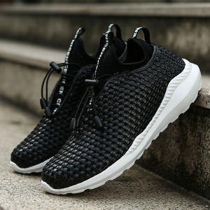 Hand Woven Breathable Men's Casual Shoes
