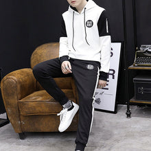 Cashmere Thickening Pure Cotton Colouring Men's Sports Suit