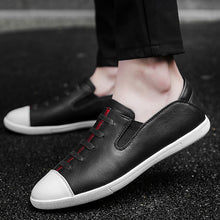 Comfortable Head Layer Cowhide Men's Casual Shoes