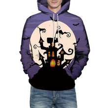 Bat Geometric Hit Color Hooded Pullover Men's Hoodies