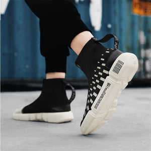 High Waist Letter Stitching Men's Boots