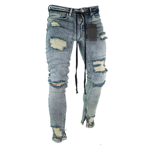 Broken Hole Elasticity Jeans