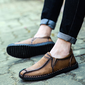 Fashion Handmade Microfiber Leather Shoes