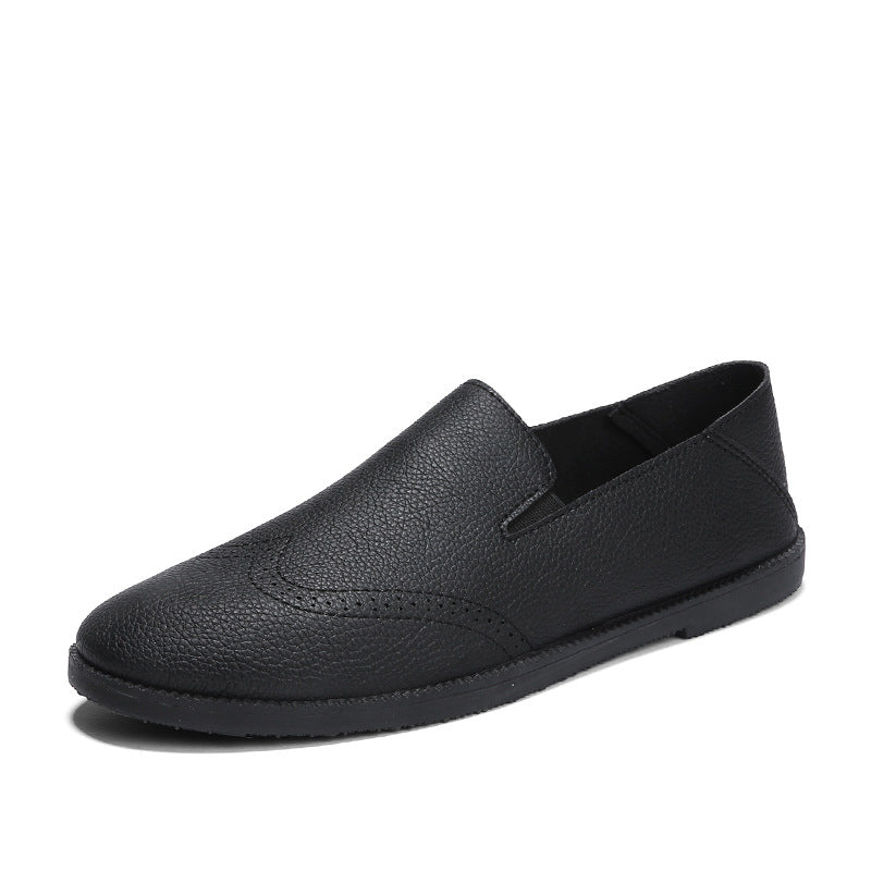 Bullock Single-ply PU Pure Color Men's Loafers