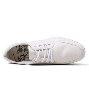 Round Toe Lace-up Canvas Casual Shoes