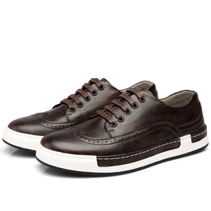 Retro Casual Sports Leather Shoes