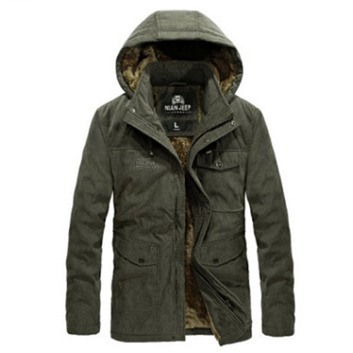 With Velvet Oversize Hooded Polyester Men's Down Coat