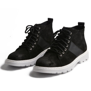 Breathable Absorbent Antislip Men's Leather Boots