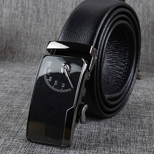 Automatic Buckle Print Plain Men's Belts